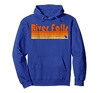 Retro 80s Style River Falls Wi Shirts Hoodie Royal Blue
