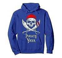 Pirate Yaya Skull And Crossbones Flag T-shirt Hoodie Royal Blue