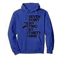 7 62x39 Seven Point Six Two By 39 Ak47 Rifle Shirts Hoodie Royal Blue