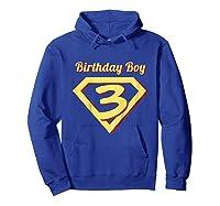3rd Birthday Boy Gift Super Hero T-shirt Hoodie Royal Blue