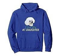 Love My #1 Daughter Shirts Hoodie Royal Blue