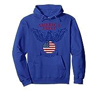 America First Trump 2020 New Shirts Hoodie Royal Blue