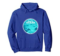 Heal The Ocean Premium T-shirt Hoodie Royal Blue