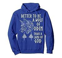 Vikings Wolf Rune Circle Wolf Of Odin Norse Mythology T-shirt Hoodie Royal Blue