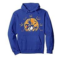 Baseball Pumpkin Witch Hat Funny Halloween Costume Shirts Hoodie Royal Blue