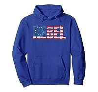 Rebel B Ross American Flag 1776 Vintage Distressed Shirts Hoodie Royal Blue
