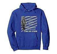 Military Combat Veteran Proud Patriot Us Flag I Am The Storm Premium T-shirt Hoodie Royal Blue