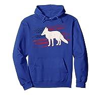 Fox Us American Flag Prairie 4th Of July Animal Usa Gift Shirts Hoodie Royal Blue