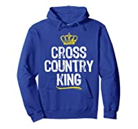 Cross Country King Running Runner Funny Cool Gift T-shirt Hoodie Royal Blue