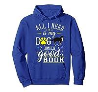Bernese Mountain Dog Gift Funny Saying Book Love Reading Premium T-shirt Hoodie Royal Blue