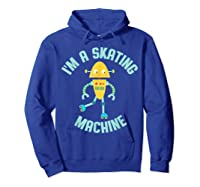Roller Skating Robot For And Girls Shirts Hoodie Royal Blue