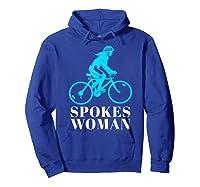 Spokes Woman Cycling Shirts Hoodie Royal Blue