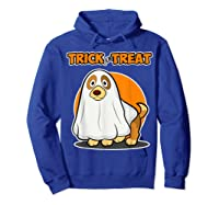 Dog Ghost Halloween Party Trick For Treat Shirts Hoodie Royal Blue