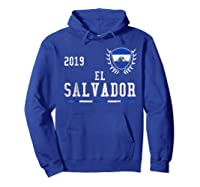 El Salvador Football 2019 Salvadorean Soccer T-shirt Hoodie Royal Blue