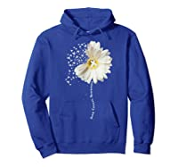 Lung Cancer Awareness Sunflower Ribbon Gift Shirts Hoodie Royal Blue
