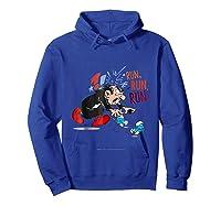 The Smurfs Run Run Run Shirts Hoodie Royal Blue