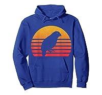 Vintage Retro Sunset Kakapo T-shirt Hoodie Royal Blue