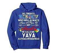 This Boy He Call Me Yaya Autism Awareness Shirts Hoodie Royal Blue