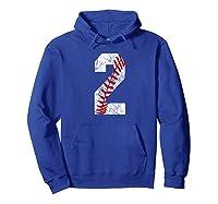 Vintage Baseball Mom #2 Baseball Favorite Player Two T-shirt Hoodie Royal Blue