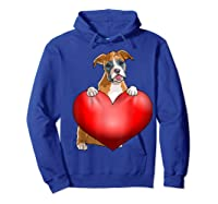 Valentines Day Dog Boxer Heart Gift Girl Shirts Hoodie Royal Blue