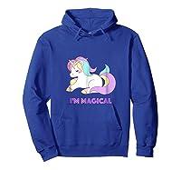I'm Magical Rainbow Unicorn Shirts Hoodie Royal Blue