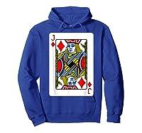 Jack Of Diamonds Playing Card Group Costume Poker Player T-shirt Hoodie Royal Blue