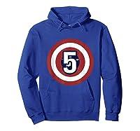 Superhero Comic Birthday T Shirt 5 Year Old Hoodie Royal Blue