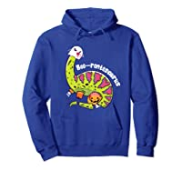 Boo Ghost Dinosaur Cute Brontosaurus Funny Halloween Gift Premium T-shirt Hoodie Royal Blue