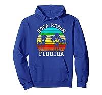 Boca Raton Florida Palm Trees Sunset Matching Vacation T-shirt Hoodie Royal Blue