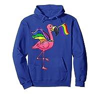 Flamingo Lgbt Pride Month T-shirt Hoodie Royal Blue