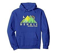 Retro Vintage Denali National Park Shirts Hoodie Royal Blue