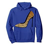 Cool Pointy Leopard Animal Print High Heels Shirt Gift Hoodie Royal Blue