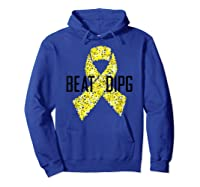 Inspirational Beat Dipg T-shirt - Dipg Awareness Hoodie Royal Blue