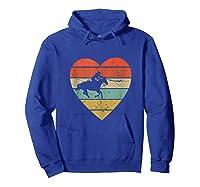 Roping Vintage Design Retro Horse Calf Roper Heart Sport Fan Tank Top Shirts Hoodie Royal Blue