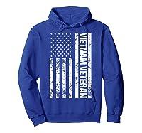 American Flag Vietnam Veteran T-shirt Hoodie Royal Blue