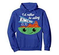 Kimchi Cute Korean Ferted Food Shirts Hoodie Royal Blue