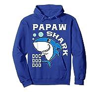 Papaw Shark Halloween Christmas Gift Shirts Hoodie Royal Blue