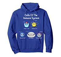 Immune System Cells Biology Cell Science Humor Immunologist Shirts Hoodie Royal Blue
