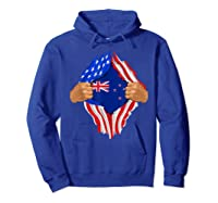 New Zealand Blood Inside Me T-shirt   New Zealand Flag Gift Hoodie Royal Blue