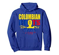 Storecastle Colombian Roots Colombia Flag Pride Shirts Hoodie Royal Blue