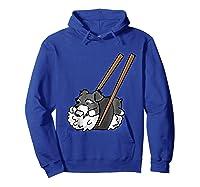 Schnauzer Sushi Funny Dog Gif Shirts Hoodie Royal Blue