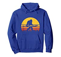 Retro Kayak Vintage Sasquatch Kayaking Tank Top Shirts Hoodie Royal Blue