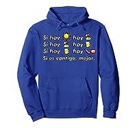 Si Hay Playa Hay Alcohol - Callaita Trap Bunny Emoji T-shirt T-shirt Hoodie Royal Blue