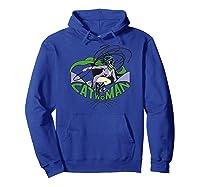 Batman Catwoman And Logo Shirts Hoodie Royal Blue