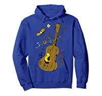 The Sound Of Guitar Tree Nature Shirts Hoodie Royal Blue