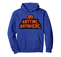Anytime Anywhere Flyers Shirts Hoodie Royal Blue