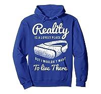 Virtual Reality Hmd Interactive Game Vr Headset Shirts Hoodie Royal Blue