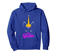 E Queen For Unicorn Lovers Shirts Hoodie Royal Blue