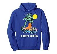 The Lion King Simba Spring Palm Tree Shirts Hoodie Royal Blue