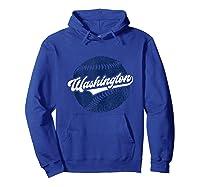 Washington Baseball Retro Vintage National Gift Shirts Hoodie Royal Blue